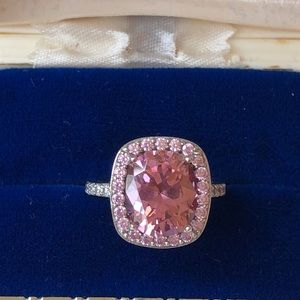 Jewelry - Pink stone Jean Dousset sterling silver ring s 6